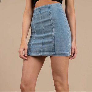 TOBI denim skirt (free people dupe)